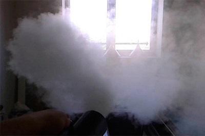 Использование дымовой шашки